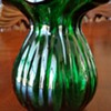 Emerald Green Fluted Ribbed Vase By SnowFlakes