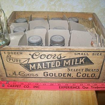 Coor's malt jars