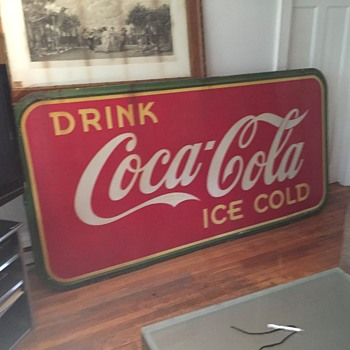 Vintage 1939 Porcelain Coke Sign - Made In Canada