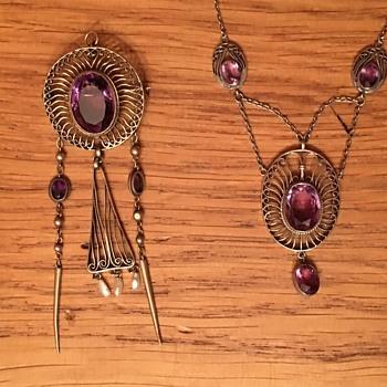 Theodor Fahrner Eric Kleinhempel Amethyst Pendant / Necklace - Fine Jewelry