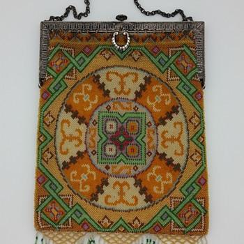 Geometric micro-beaded handbag circa 1920's? (repost)
