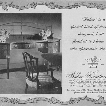 1950 Baker Furniture Advertisements