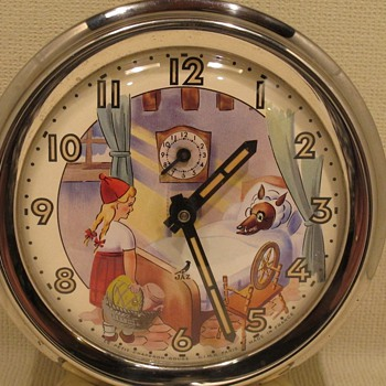 Jaz Red Riding Hood and Big Bad Wolf Clock - Clocks