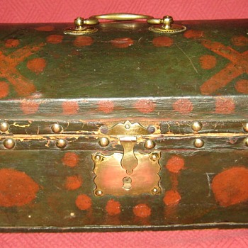 1805 Howell & Son Leather Covered Document Box Signed