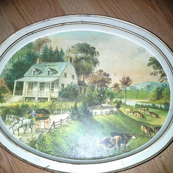 sunshine biscuit, inc tin    the morning ride by Currier&Ives - Advertising