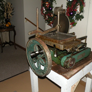 Antique Berkel Hand Crank Meat Slicer - Kitchen