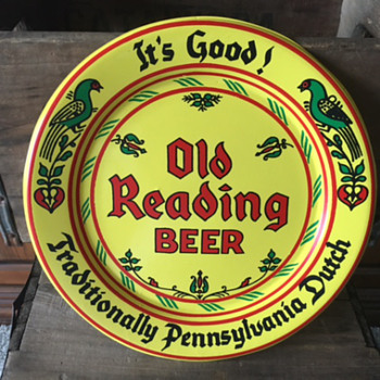 Ol Reading Beer Plate - Breweriana