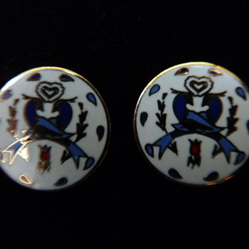 FOLK ART Earrings - Costume Jewelry