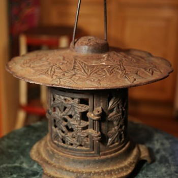 Japanese Iron Garden Lantern - Asian