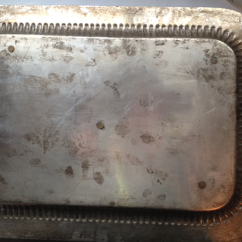 Is this a real Silver Tray? Has markings.