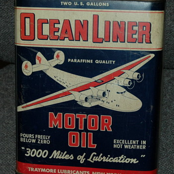 Ocean Liner motor oil can, Pep Boys can. - Petroliana
