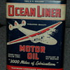 Ocean Liner motor oil can, Pep Boys can.