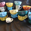 My Wife's Pottery Funny Face Cups and Bowls