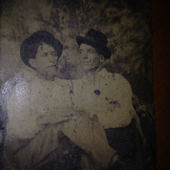 Male Couple (?)  Antique Tintype