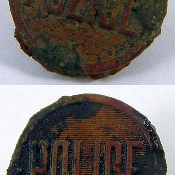 Police Button  - Sewing