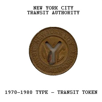 1970-1980 - New York City Transit Token - US Coins