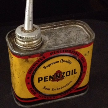 Old Pennzoil Dripless Penetrating Oil can for Hinges, Locks, Etc