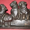 Cast Iron English Bulldog Puppies Doorstop