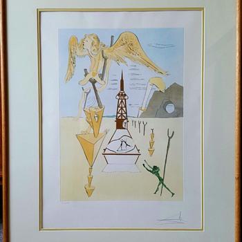"Salvador Dali Hommage à Leonardo da Vinci""La Fusee (Rocket)"" - Mid-Century Modern"