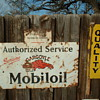 Mobiloil Porcelain Sign