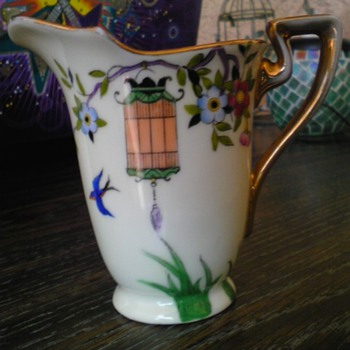 noritake hand painted pitcher