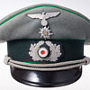 A rare 3rd Reich Wehrmacht officer's visor cap of the Gebirgsjäger (Mountain Troops)