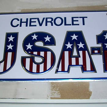 LARGE Chevrolet SIGN - Signs