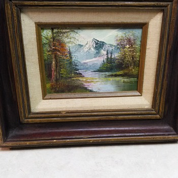 VINTAGE OIL PAINTING - Visual Art