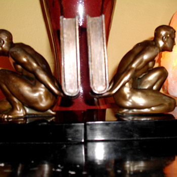 "J. B. Hirsch ""Servant of Knowledge"" Bookends, 1930 - Art Deco"
