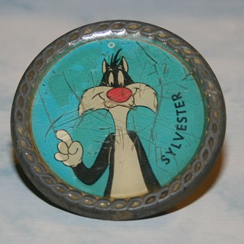 Vintage Lee Jeans Belt Buckle Looney Tunes Sylvester