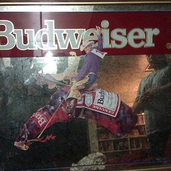 Budweiser Mirror - rare  - Breweriana