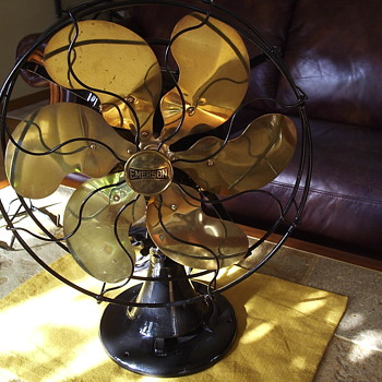 Emerson Oscillating Six Brass Bladed Fan - Office