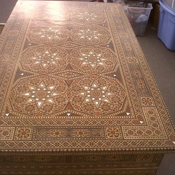 Mother of Pearl Inlay Desk and Chair from Syria.