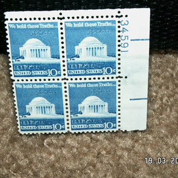 1973 Jefferson Memorial 10¢ Stamps