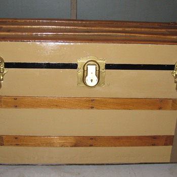 Tin Covered Flat Top Trunk - Furniture
