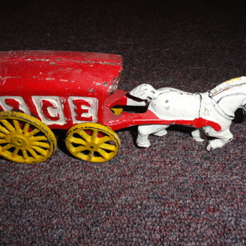 iron toy ice cart