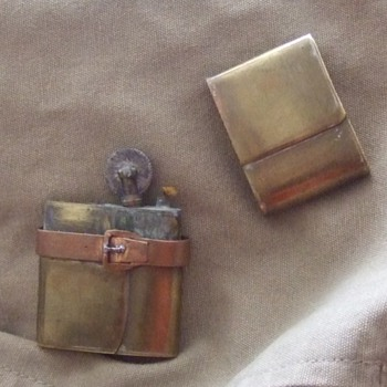 WW1 Trench Art Figural Lighter (Satchel/ Map Case) - Military and Wartime