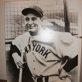Large Lou Gehrig Picture 60&quot;x49&quot; - Baseball