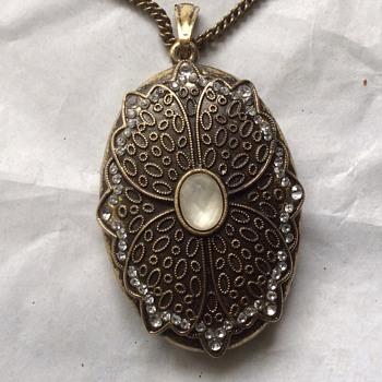 Vintage large brass pendant