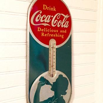 1939 Siloutte Coca Cola Thermometer