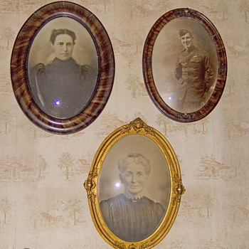 Oval convex frames our realitives - Photographs