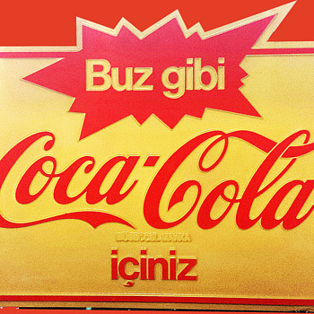 Turkish Coca Cola Sign