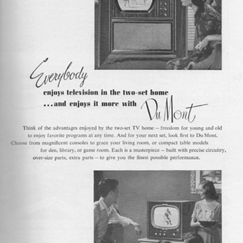 1951 - DuMont Televisions Advertisement - Advertising