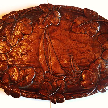 Old hand carved wood tray, from West Va. , I was only bidder! $6.99!