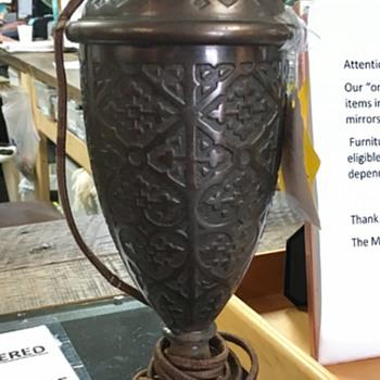 Unmarked Cast Brass (?) Lamp
