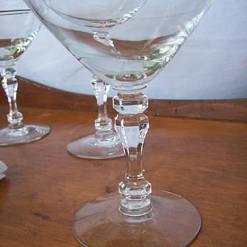 Platinum Trimmed Crystal Stemware - Glassware