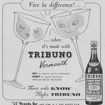 1954 Tribuno Vermouth Advertisement - Advertising