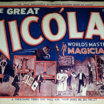 "Original ""The Great Nicola"" Mini Lithograph Poster - Posters and Prints"