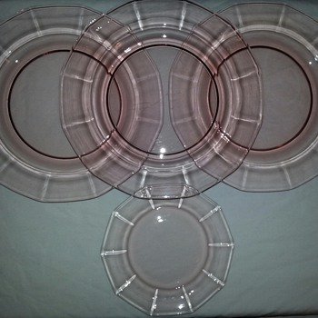 More Pink Glass Plates - Glassware