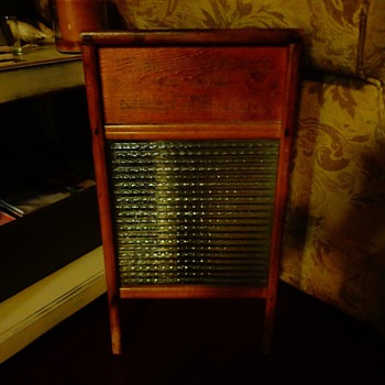 Columbus Washboard Co. Wood & Glass